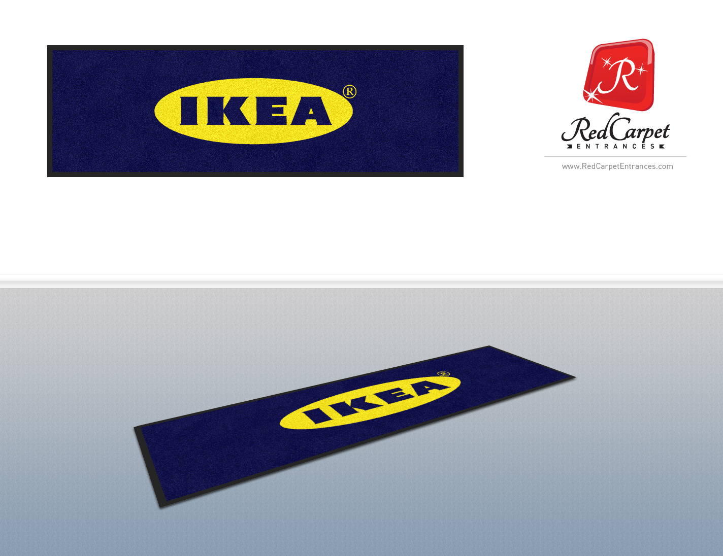 custom logo mat ikea