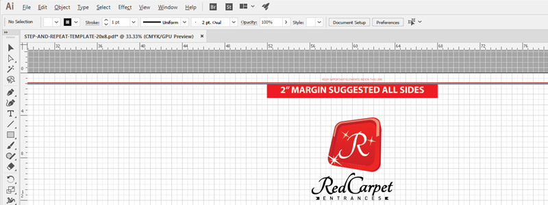 step and repeat template files free