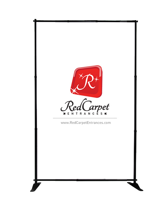 step and repeat banner stand telescopic 5x8
