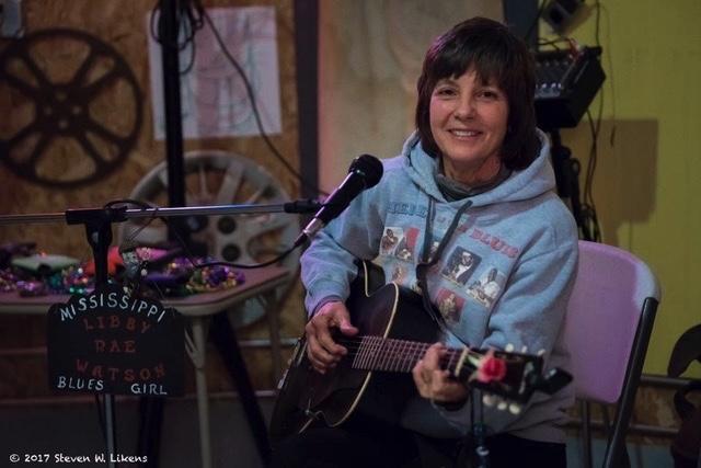 Mississippi Blues Artist- Libby Rae Watson - photo @ 2017 Steven W. LIkens  SHACKSDALE MOTEL, THE BIN music venue, Clarksdale, MS