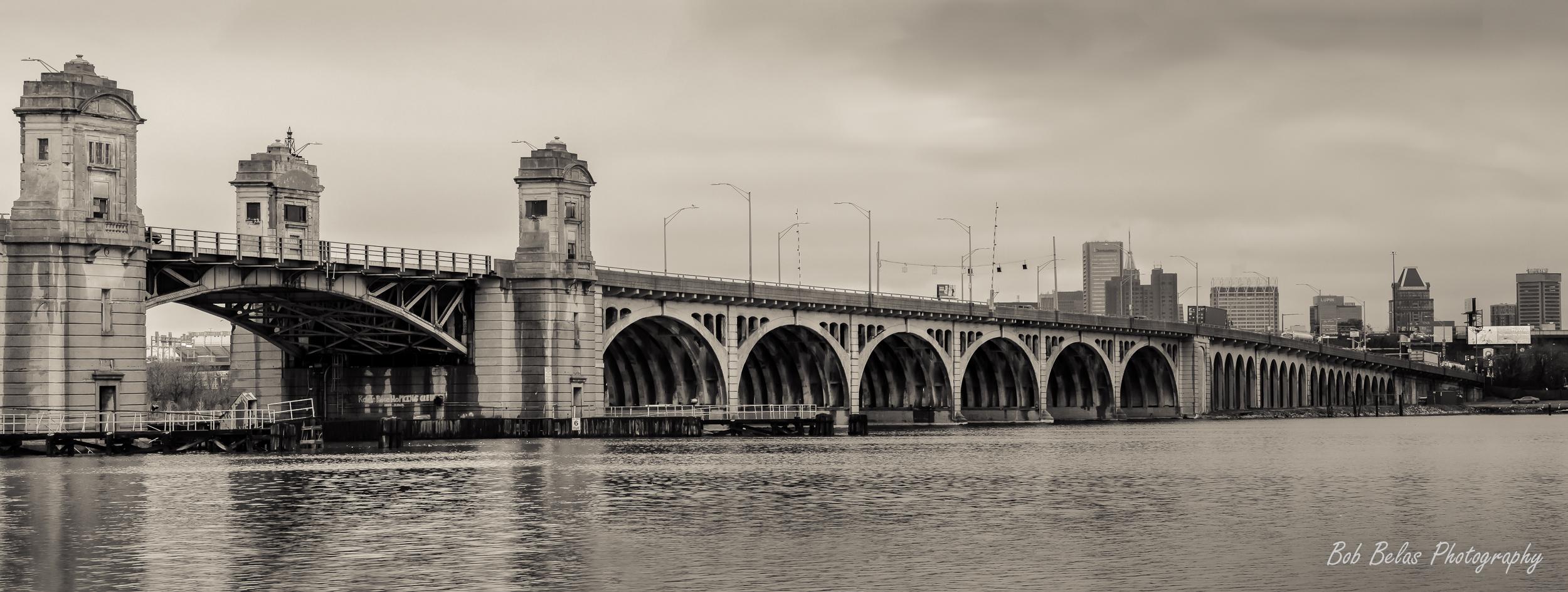 Hanover Street Bridge In Winter