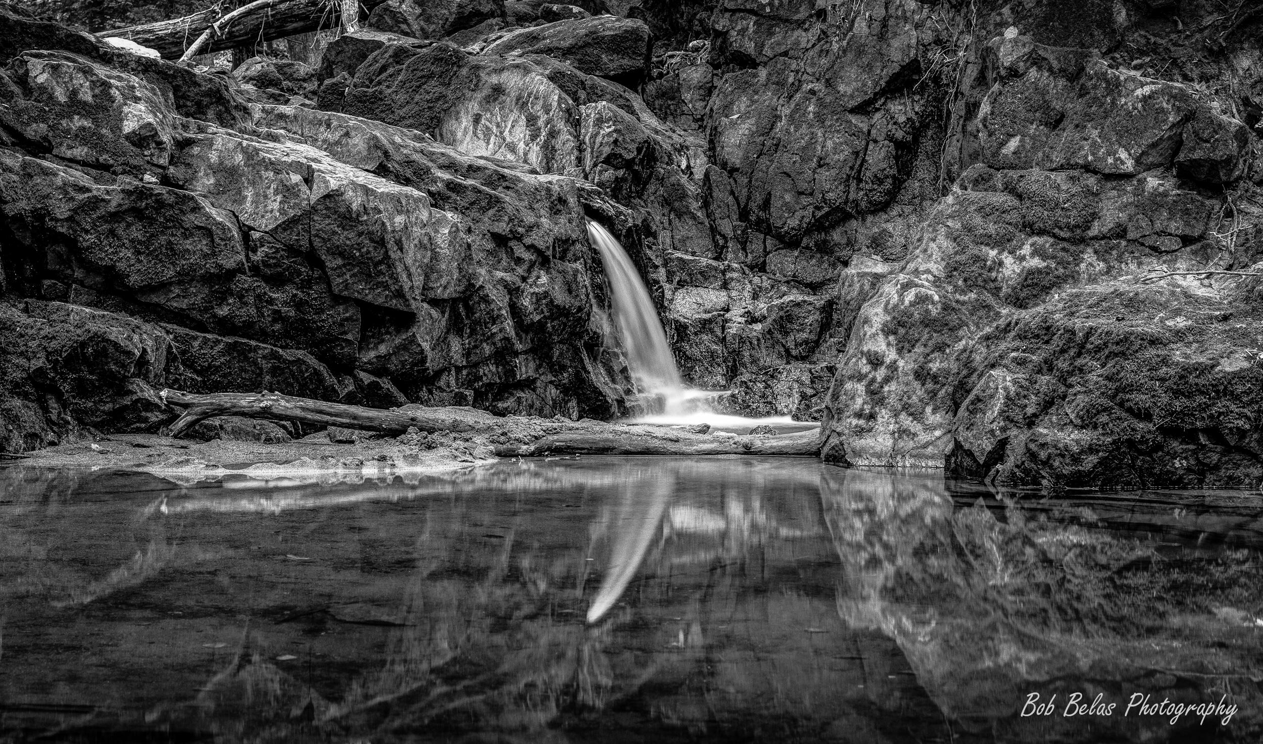 No. 9 Trolley Trail Waterfall, B/W
