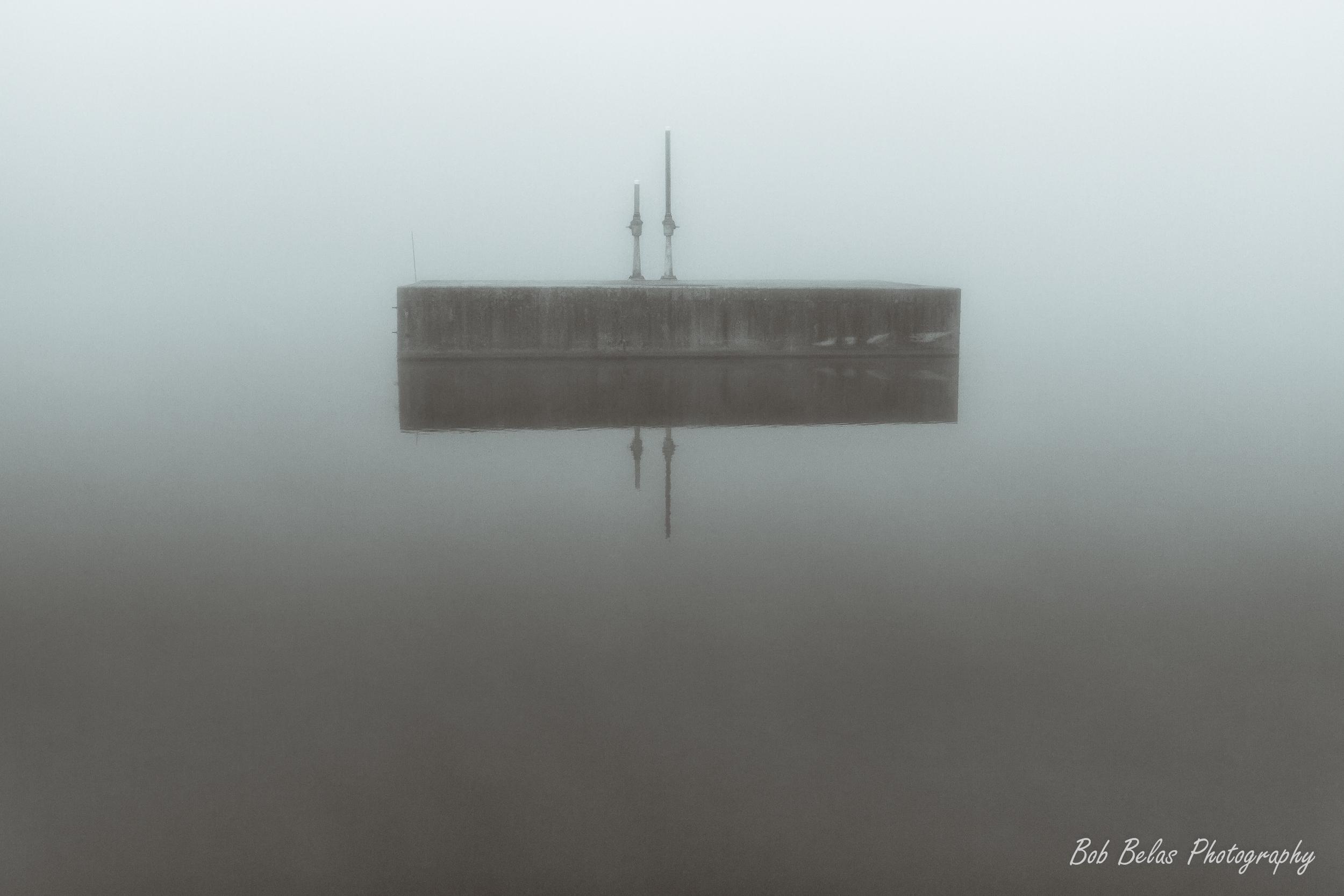 Foggy Reflection #1 Monochrome