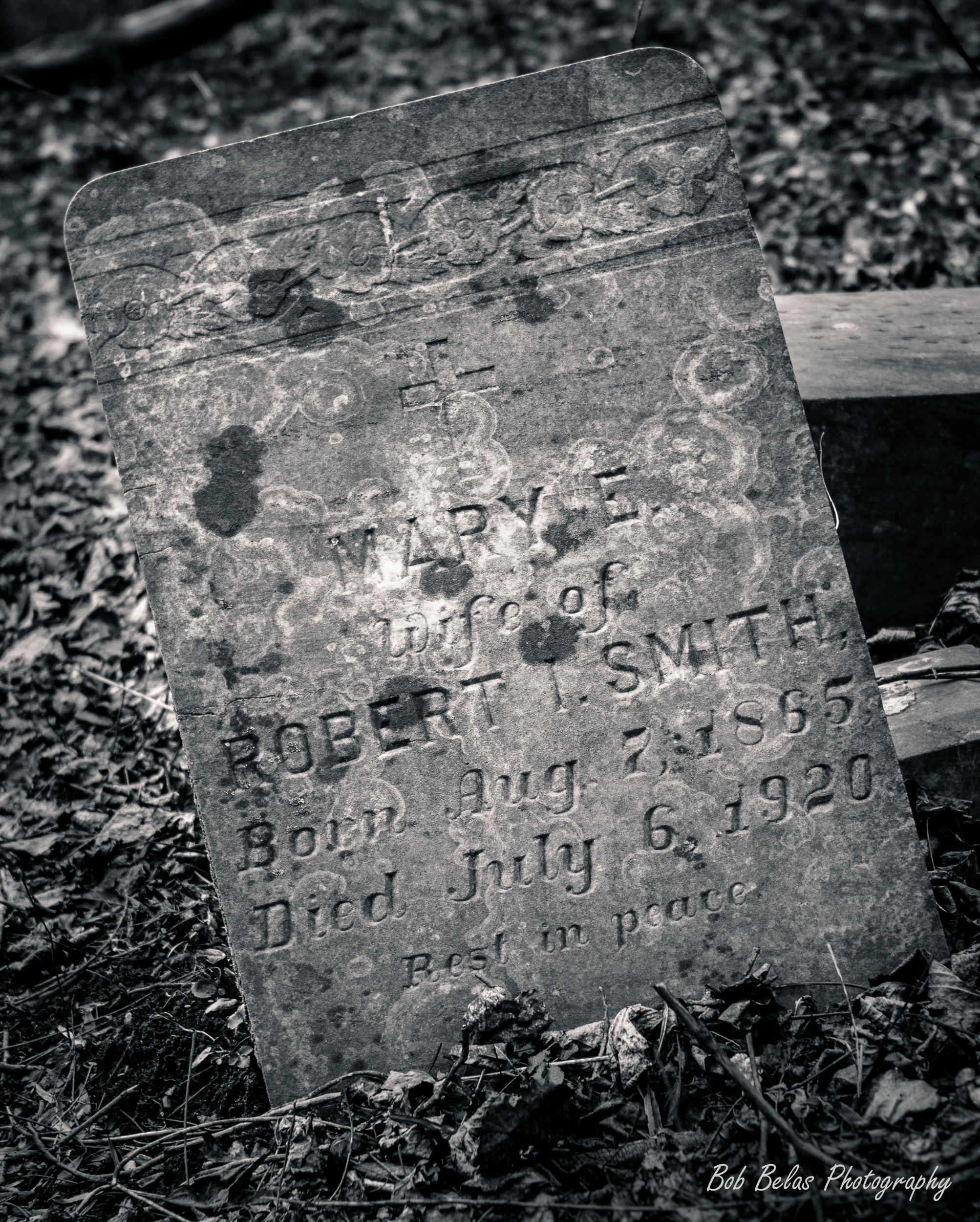 Mary Smith's Grave, monochrome