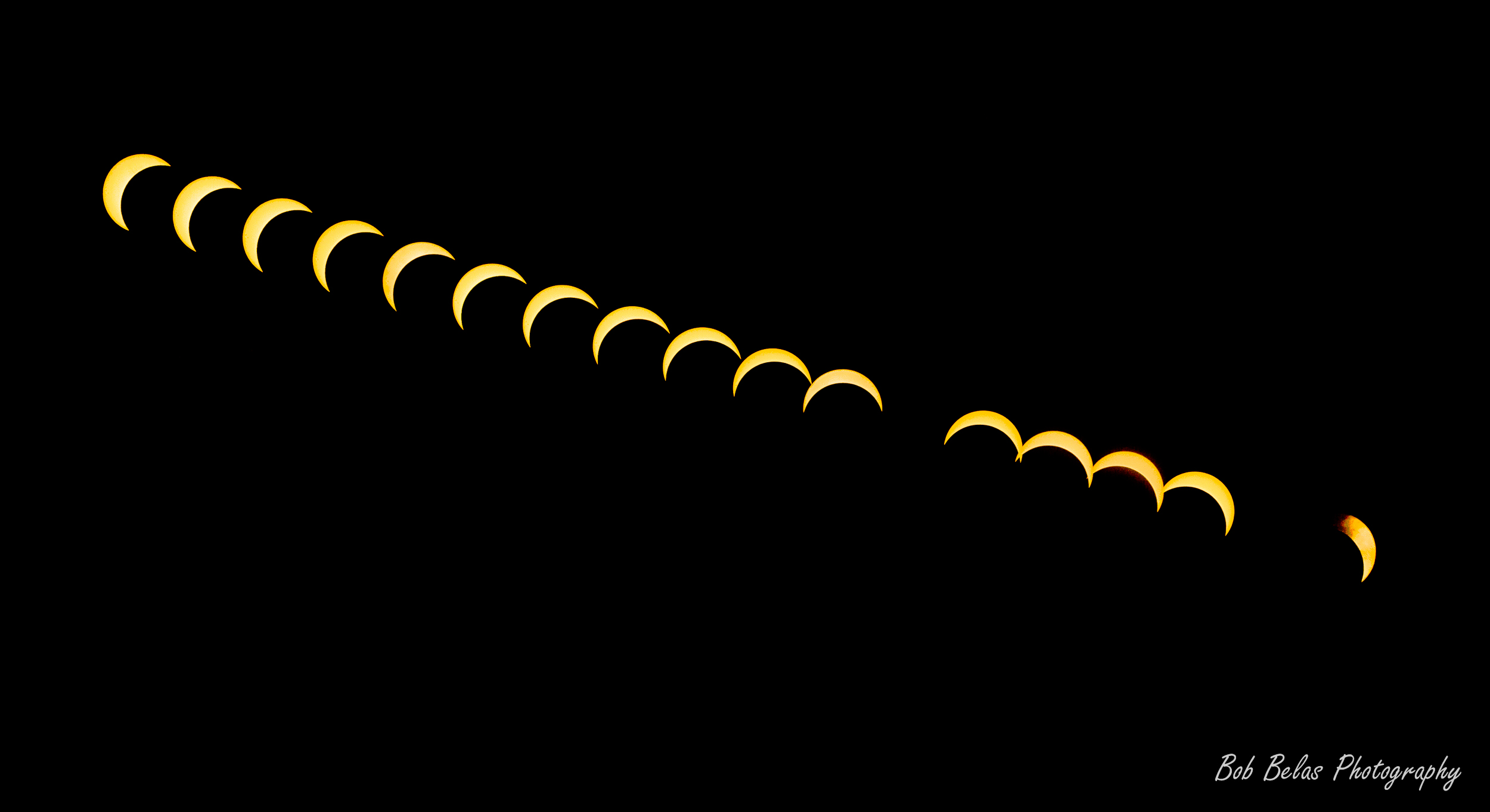 US Solar Eclipse of 2017, color timelapse composite