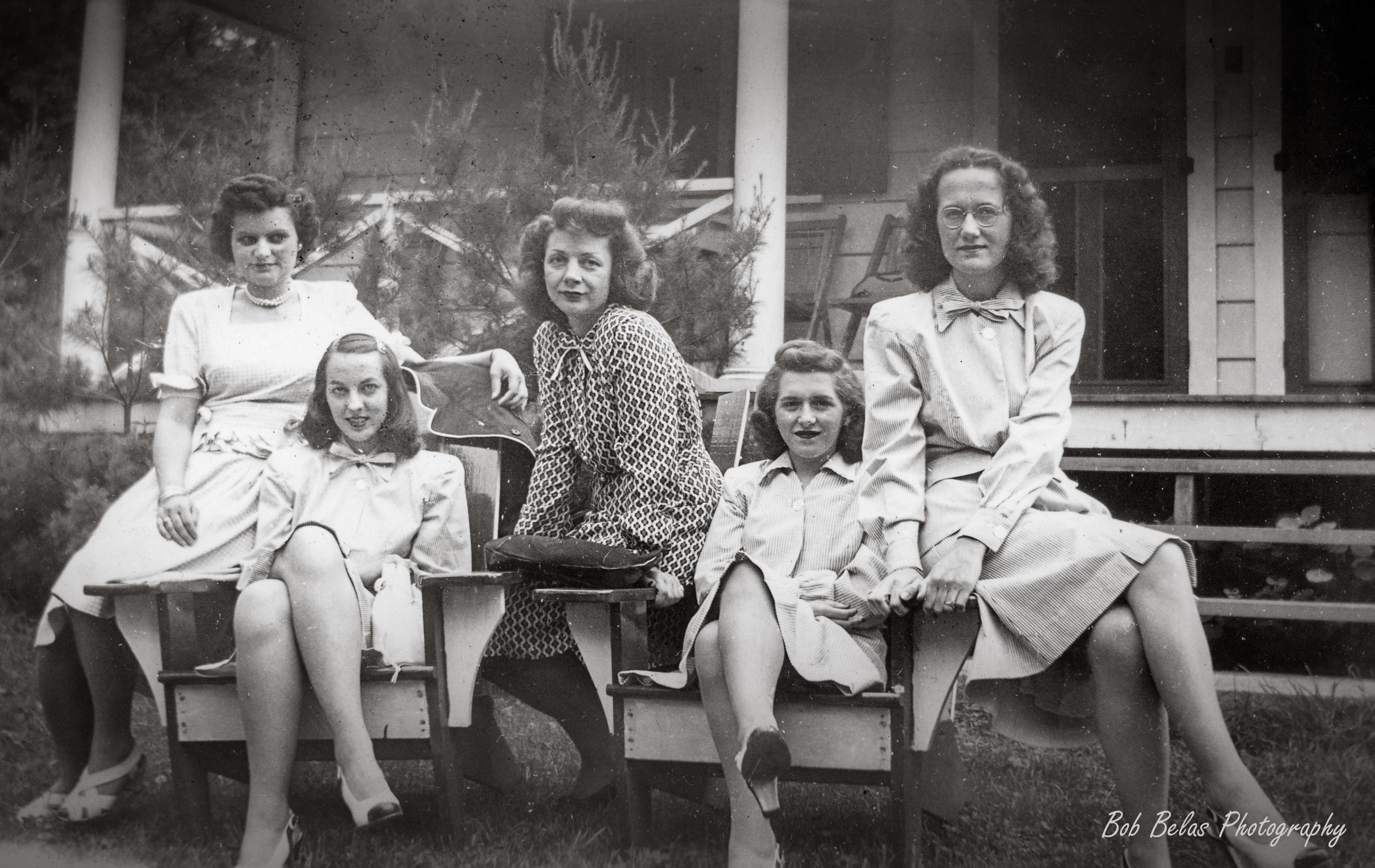 "The ""girls"", monochrome"