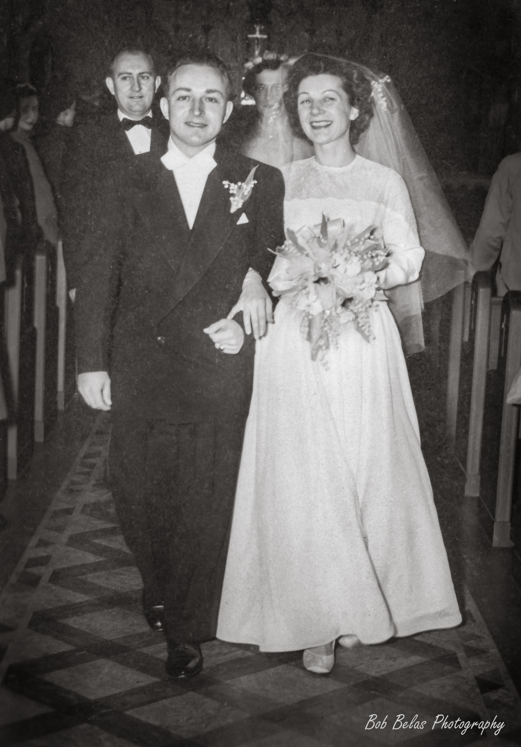 Helene and Michael Belas Wedding, monochrome