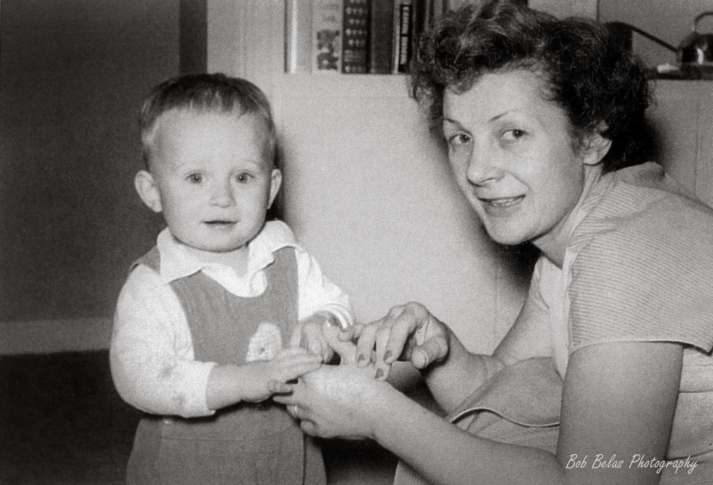 Mom and Bob 1955, monochrome