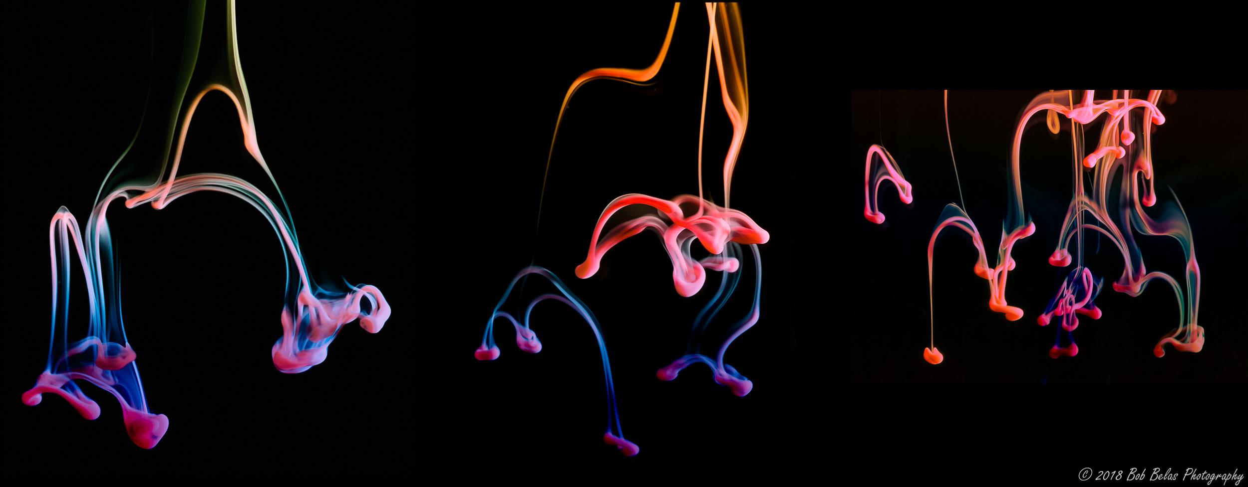 Descending Drops Trio No2, color