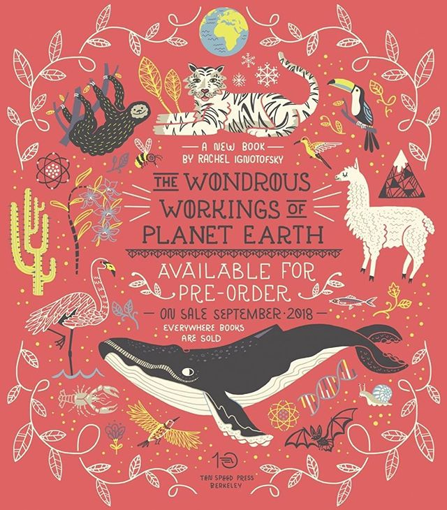 Have I mentioned I have a new book coming out?  The Wondrous Workings of Planet Earth comes out Sept 11, 2018 everywhere books are sold! ✨🌎✨I turned the inside title page into a poster to let the world know it! Feel free to share it! ✨🌎✨ preorder link is in my profile