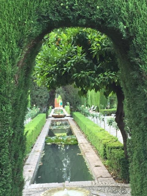 Water features in the Generaliffe gardens.