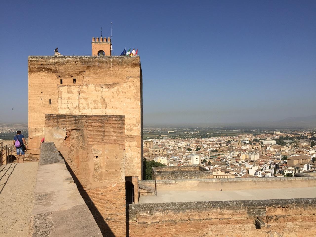 View of Granada from the Generaliffe, the Alhambra, Granada