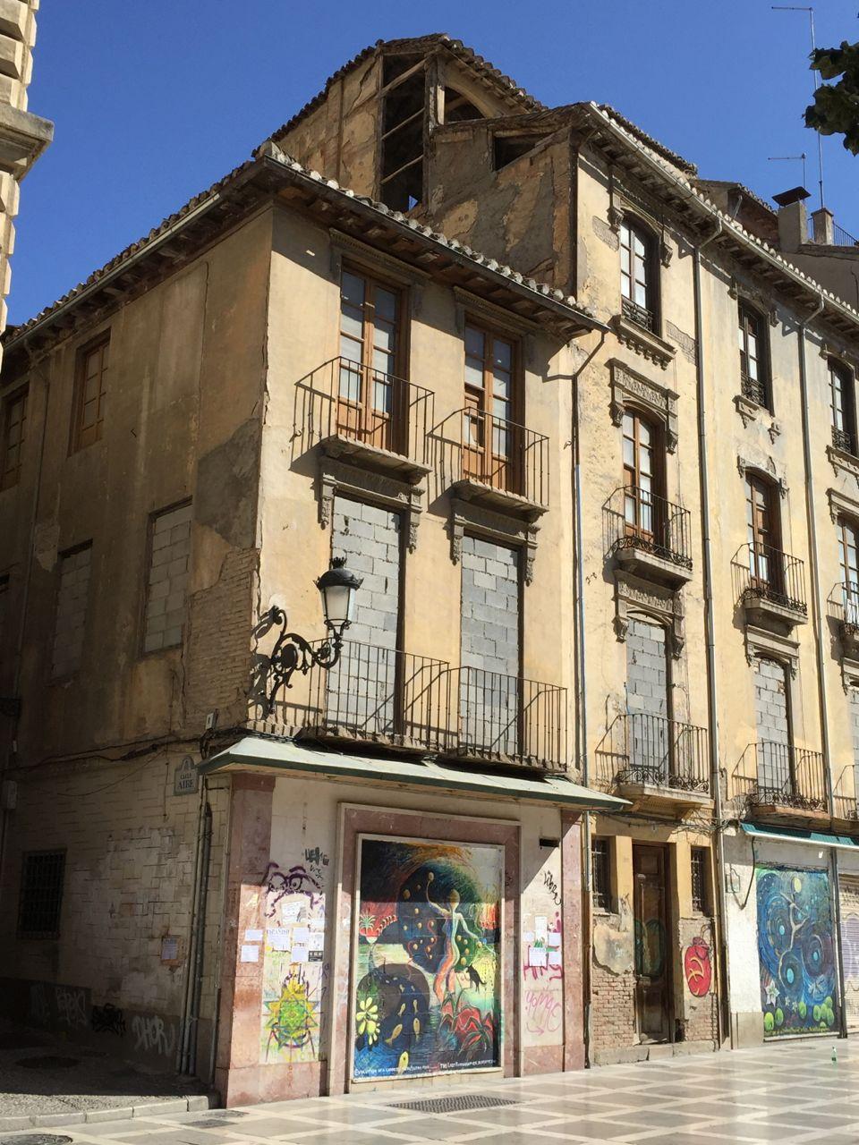Some examples of street art in the Plaza Nueva, Albaicin, Granada.