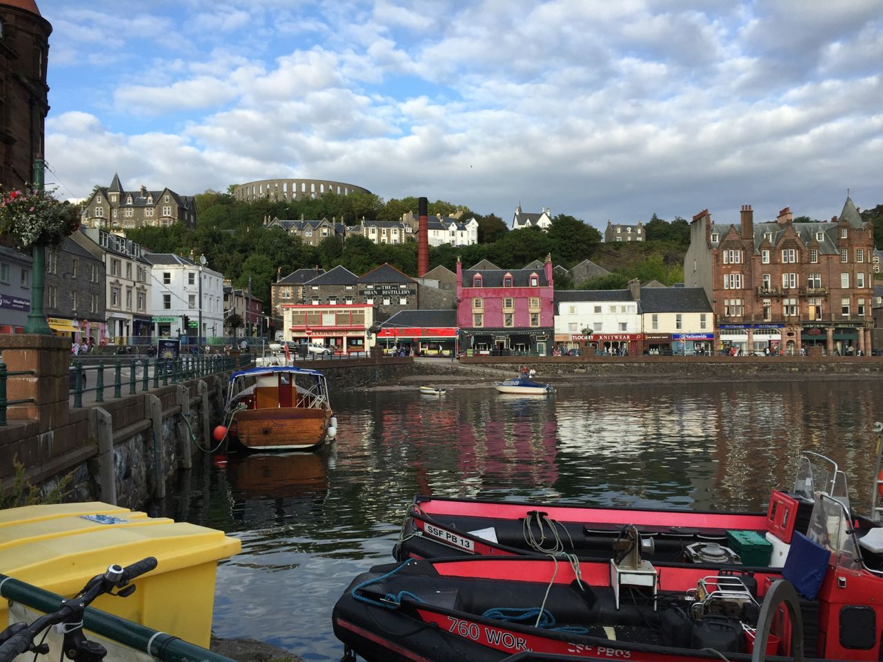 The harbor at Oban, Scotland.