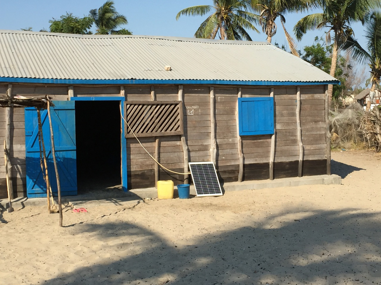 The only source of electricity in this tiny fishing village outside of Morondava is solar panels. But only the richest people can afford them, so most people burn charcoal or wood.