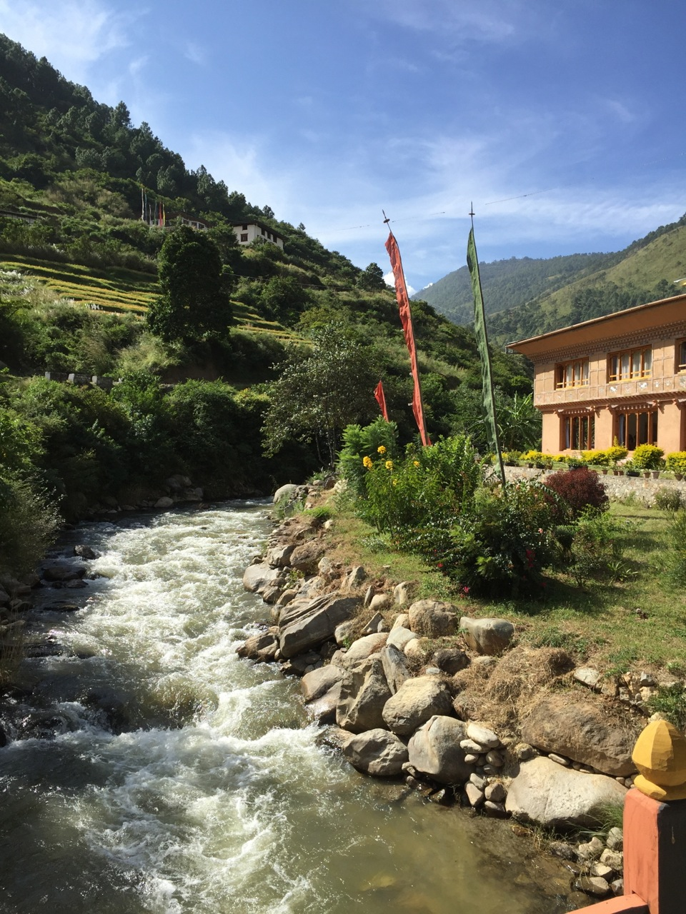 Bhutan opened its doors to tourism only 40 years ago, and it still requires every tourist to be part of a certified tour group. The government of Bhutan wants to avoid the environmental degradation that Nepal has suffered over the past 50 years due to tourism.