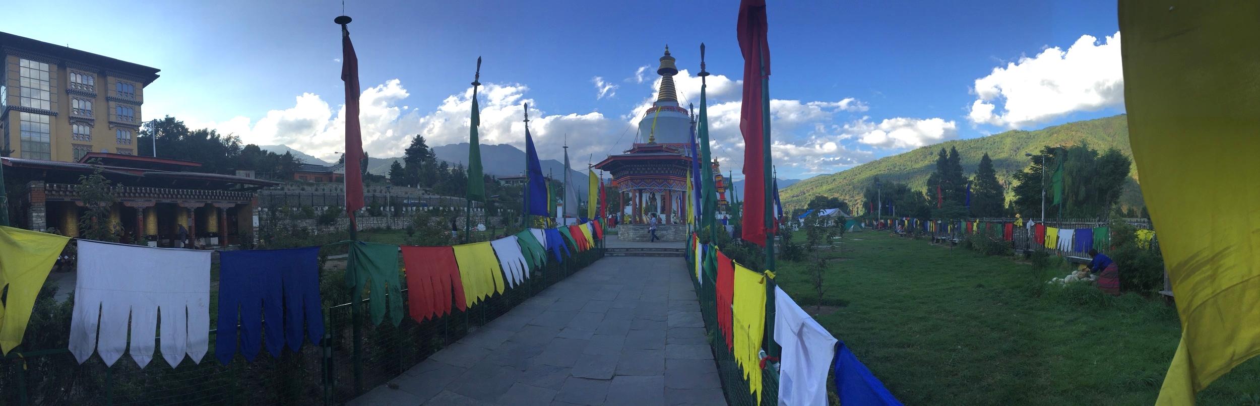 This popular stupa is a memorial to the third King Wangchuk, who democratized Bhutan