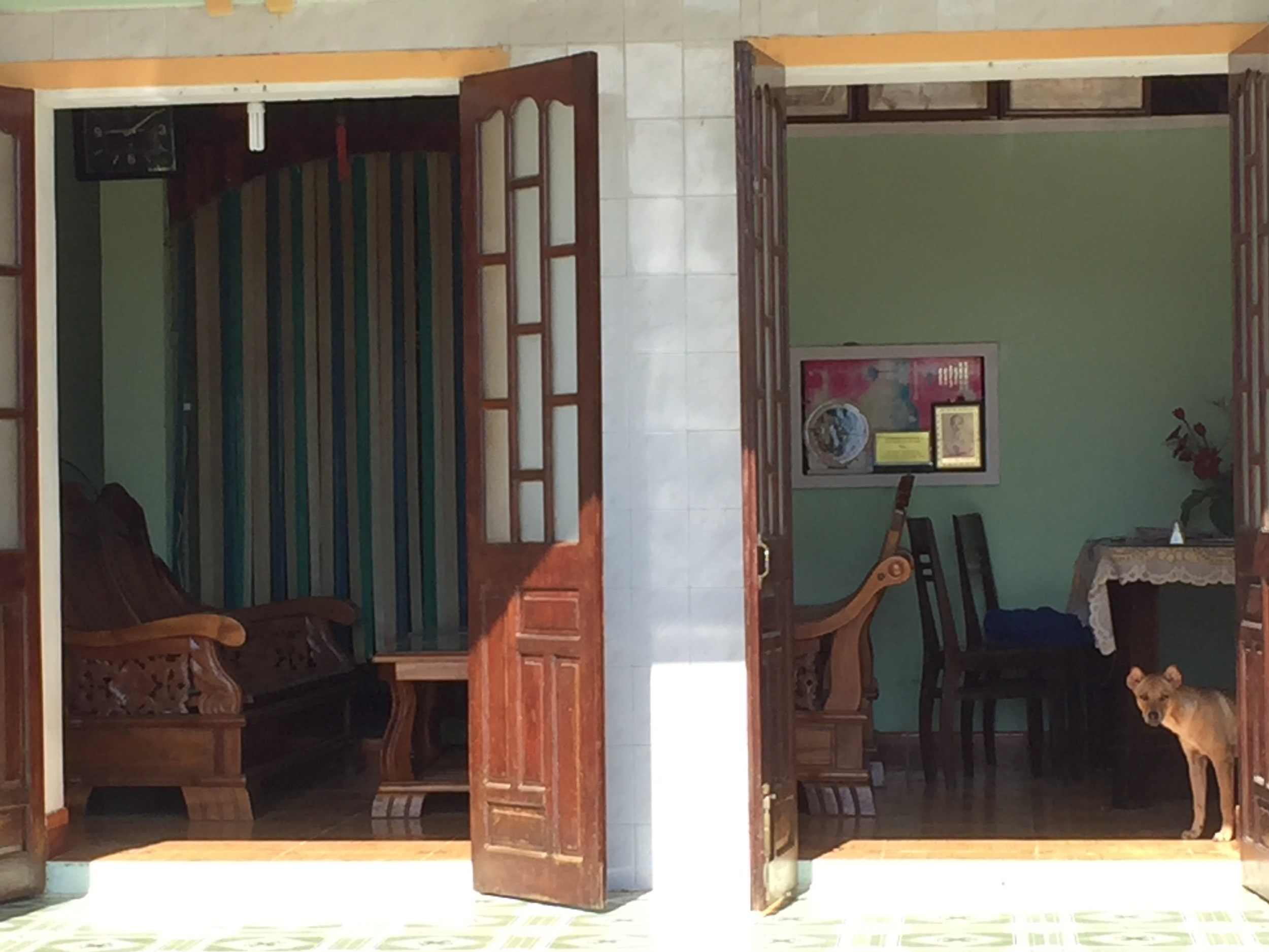 View into a country house outside of the city of Hoi An.