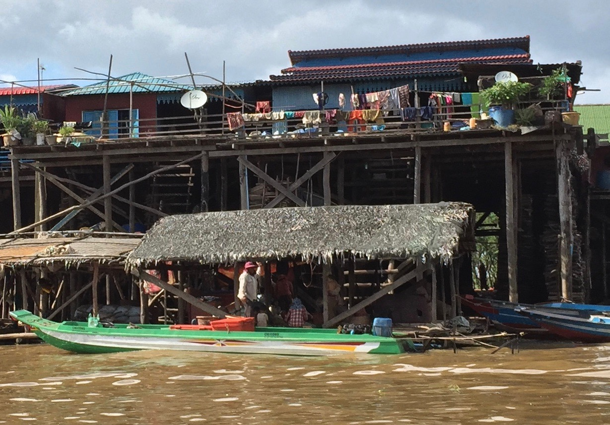 Life in a floating village on Tonle Sap Lake, Cambodia