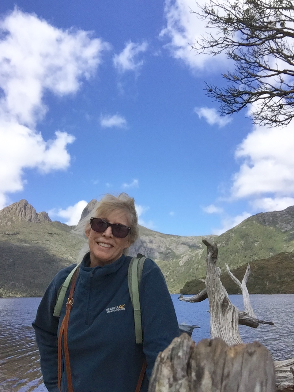 That's me on a day hike around Dove Lake, at the base of Cradle Mountain, Tasmania.