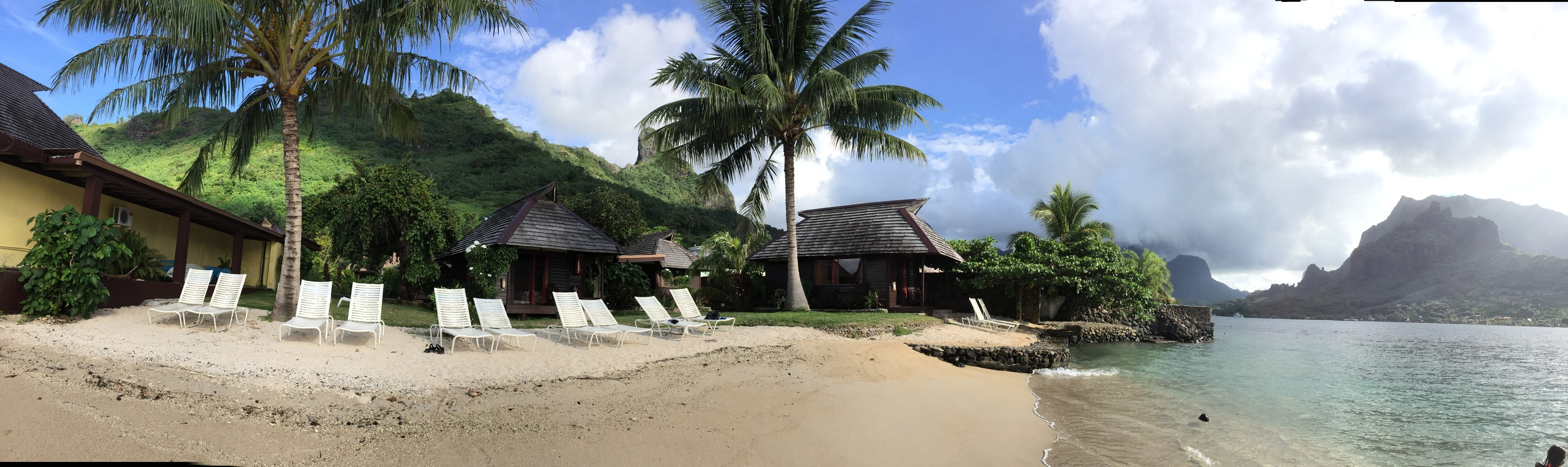 The Kaveka Hotel on Cook's Bay in Moorea where I stayed in a bungalow for 10 days.