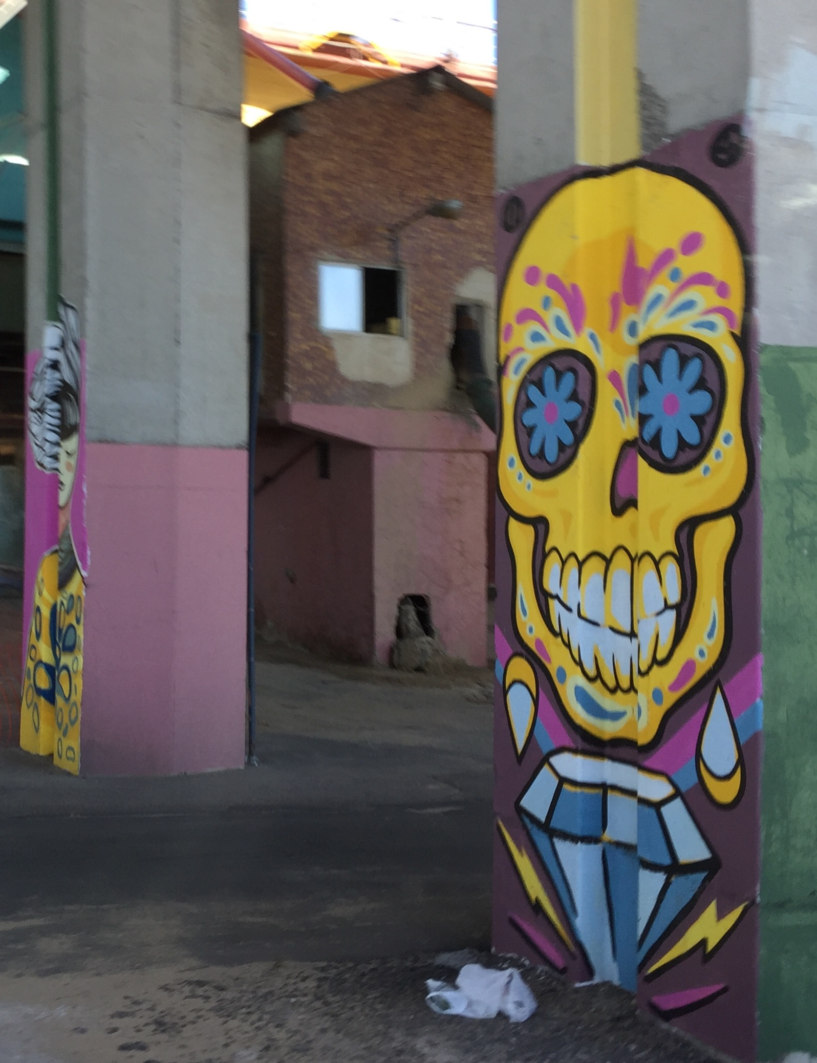 Street art is common in Buenos Aires and often has a political message.