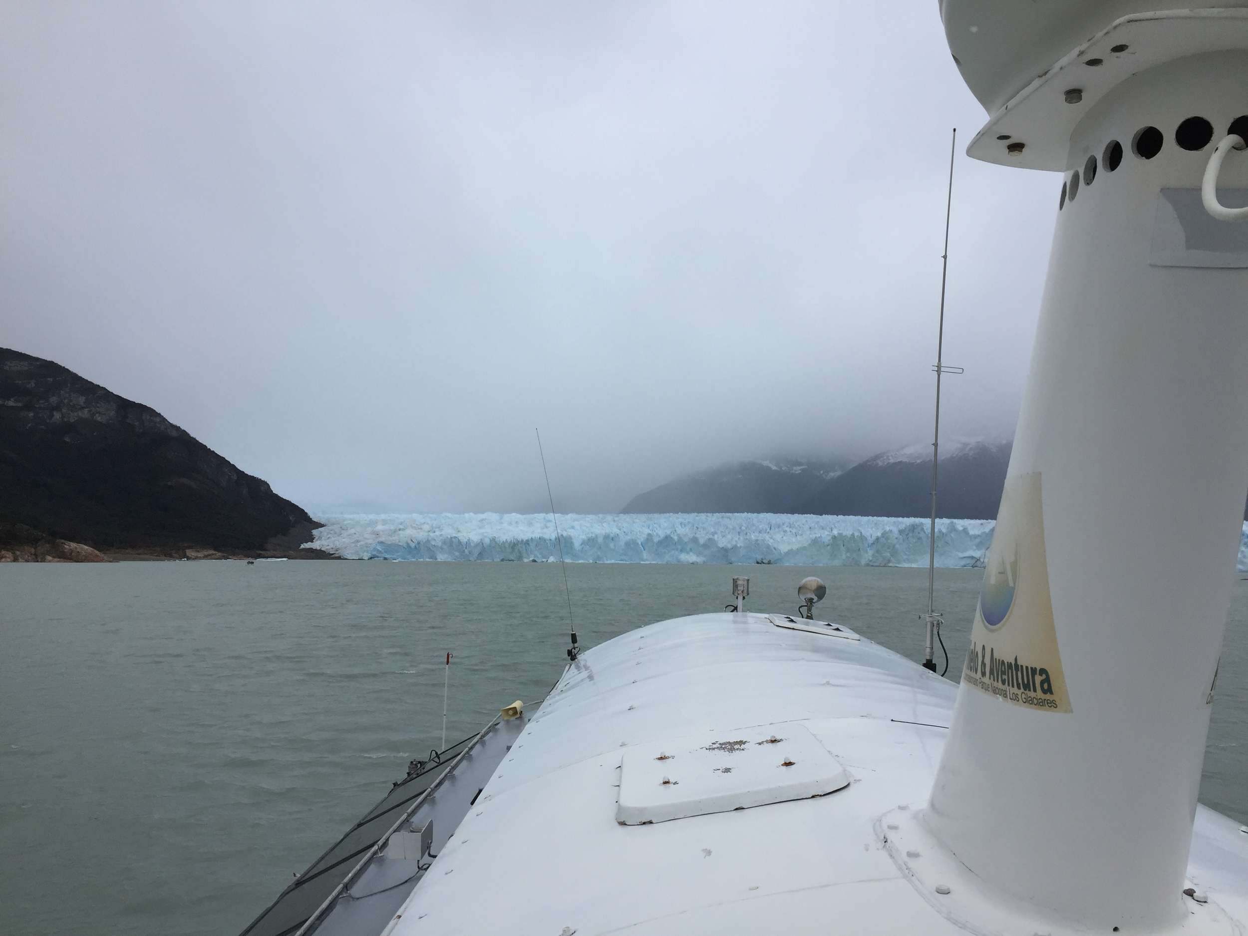 Taking a boat to get closer to the glacier...