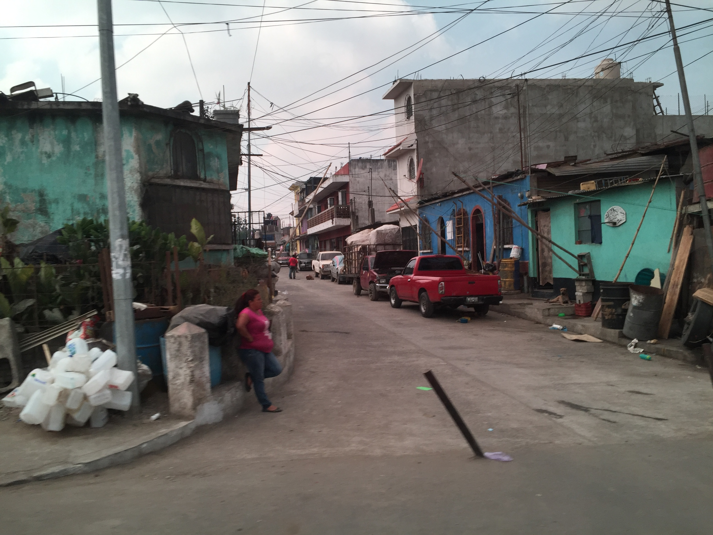 A main street in Zone 3, where the Guatemala City Garbage Dump provides the only source of income for residents.