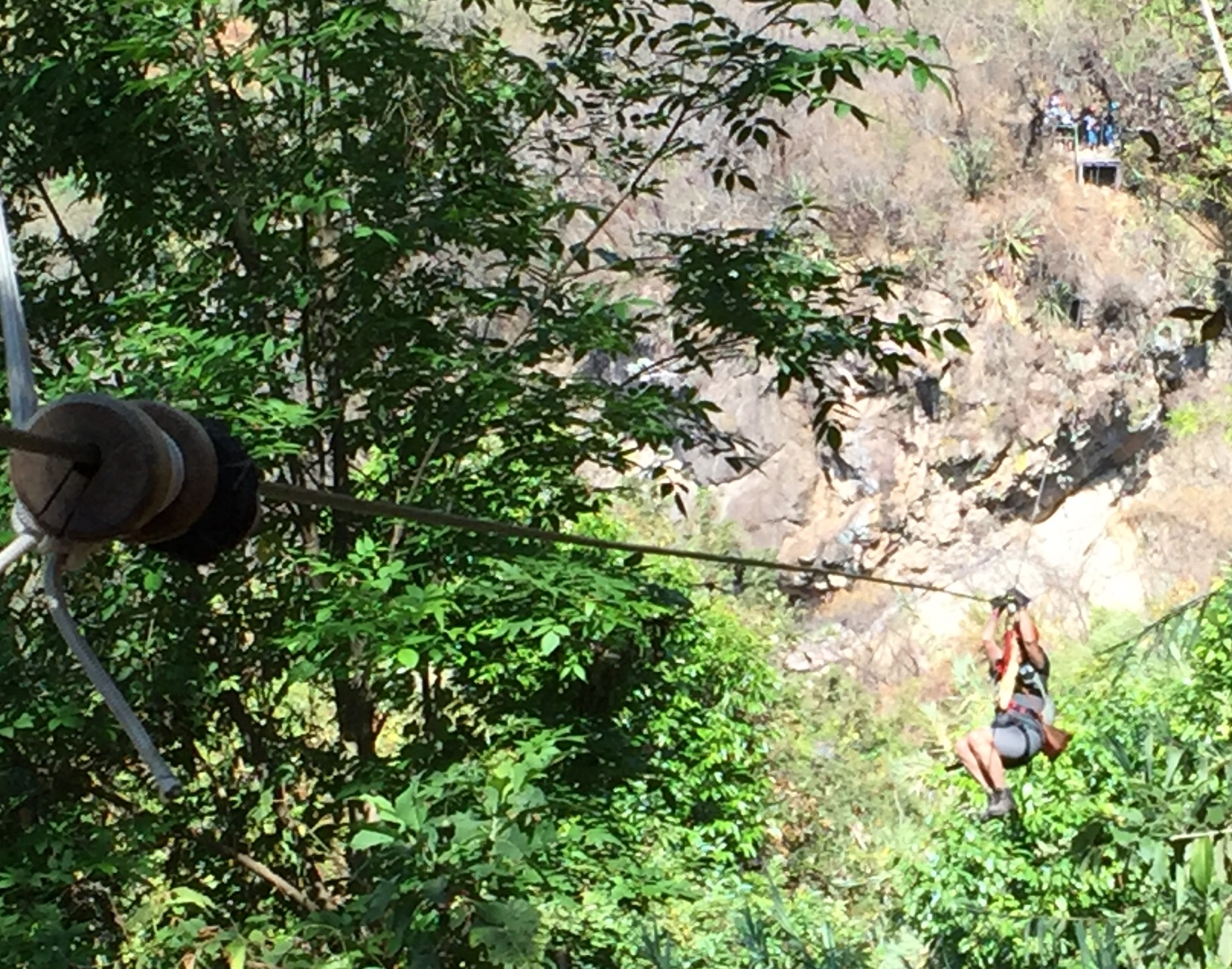 That's me again, ziplining through the forest above Lake Atitlan.