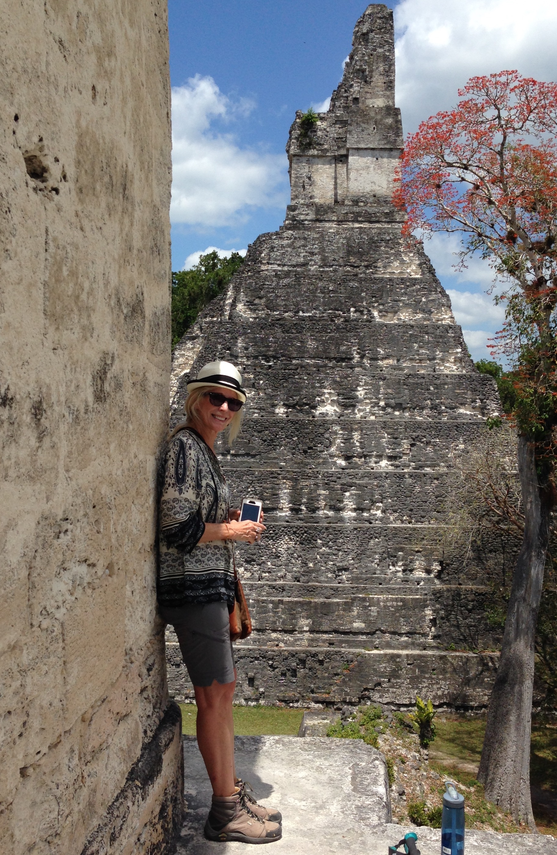 That's me taking a break in the shade overlooking the main plaza of Tikal.