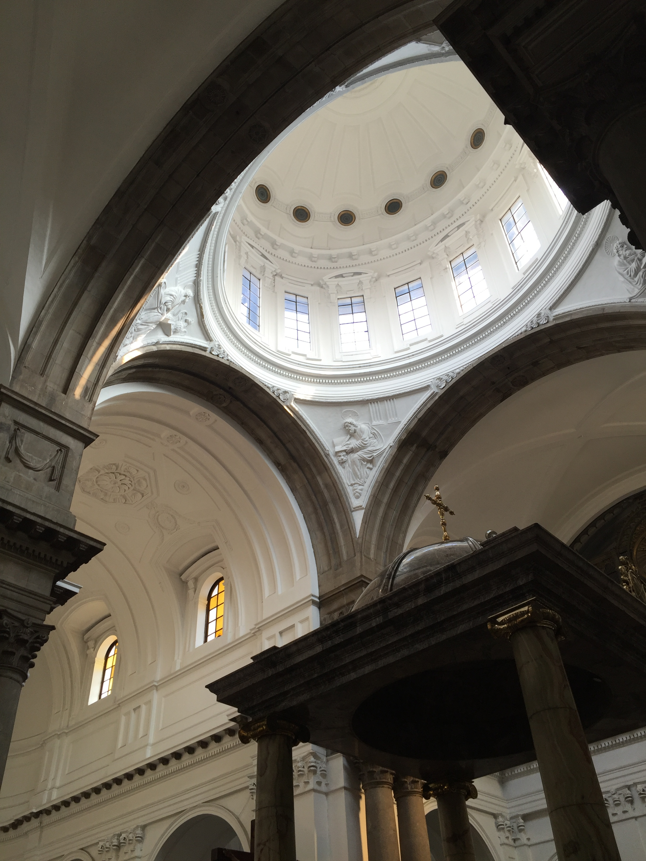 Inside the historic Metropolitan Cathedral in Guatemala City.
