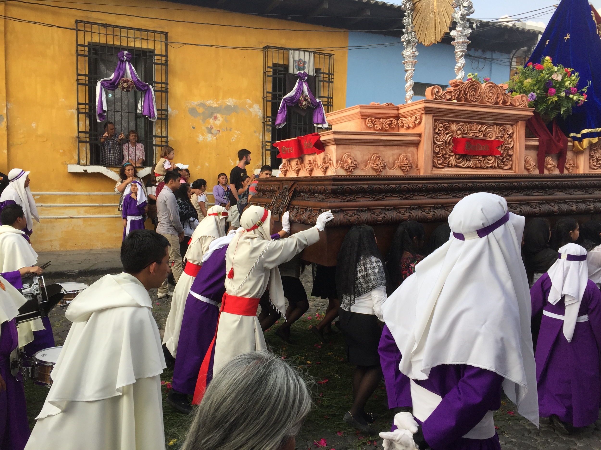 Semana Santa procession in full swing.