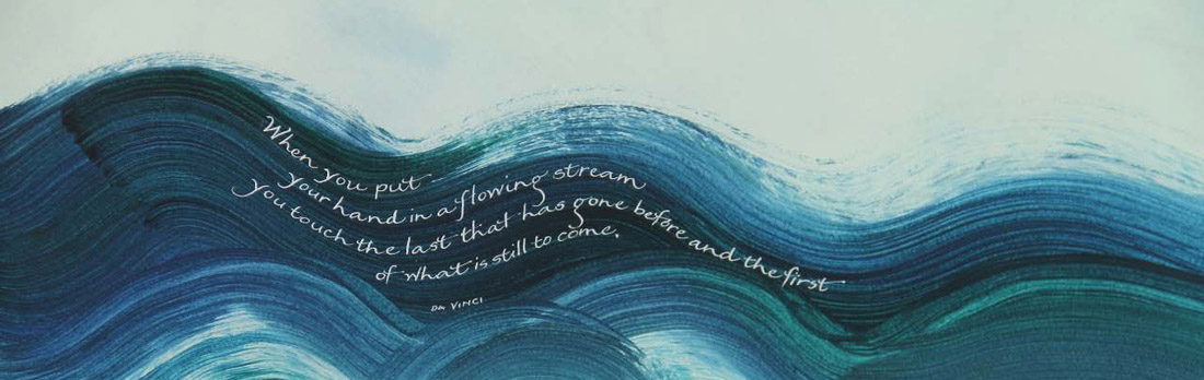 Calligraphy of a DaVinci quote, one of Elissa's many original calligraphic works.