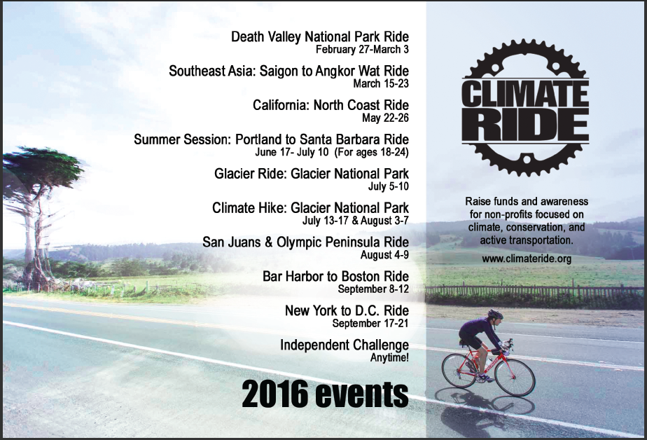 2016 Climate Ride events