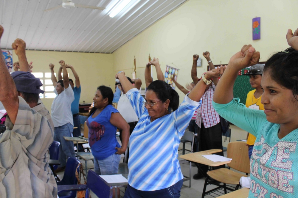 Participants in Tranquilla stretch and share their experiences - photo by Bailey McWilliams