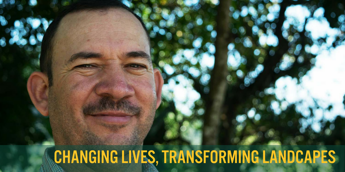 Jacobo Suazo has spent his career encouraging rural farmers to adopt healthier growing practices. What's his secret? The mighty sweet potato! - photo by Michele Christle