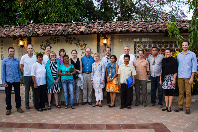 Board members and staff in Panama, February 2016