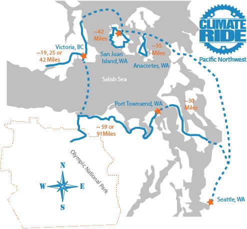 Pacific Northwest Ride map