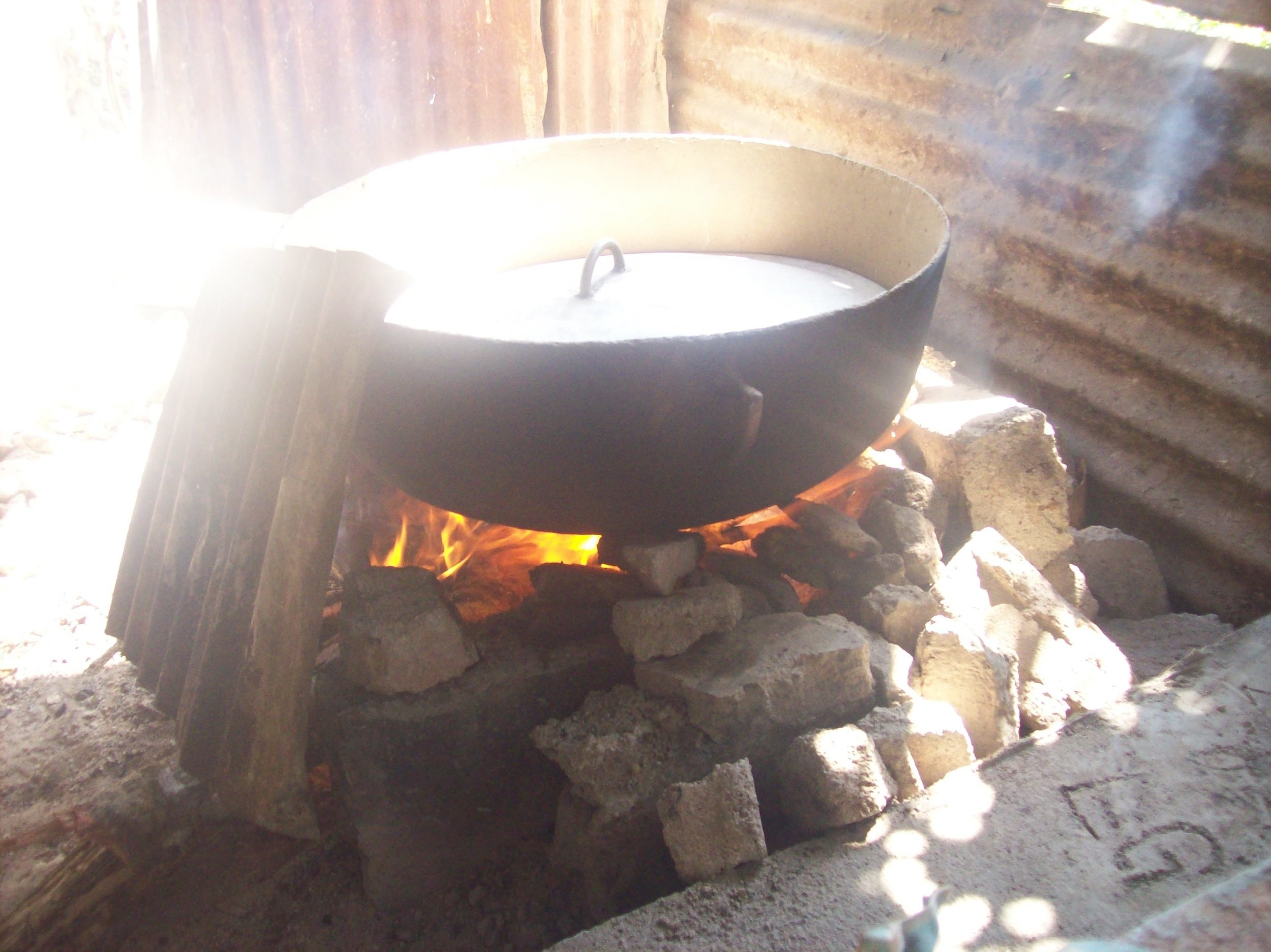 Most families in La Pedregosa cook over an open fire and had never baked before. - photo by LaTaurus Whitley