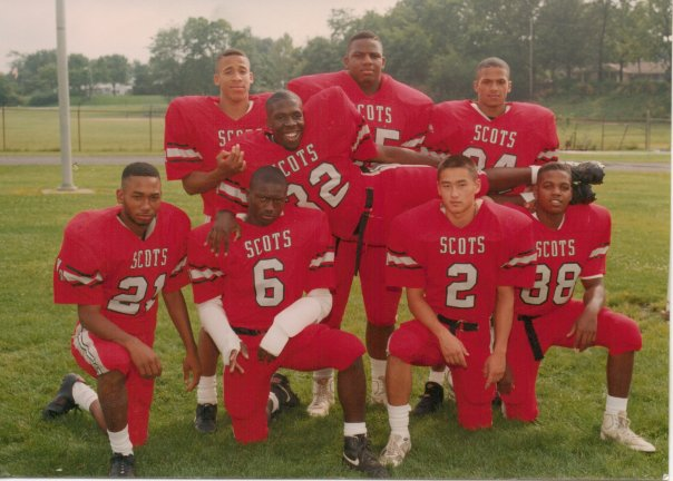 High school, senior football photo. See a future ecologist in the mix?