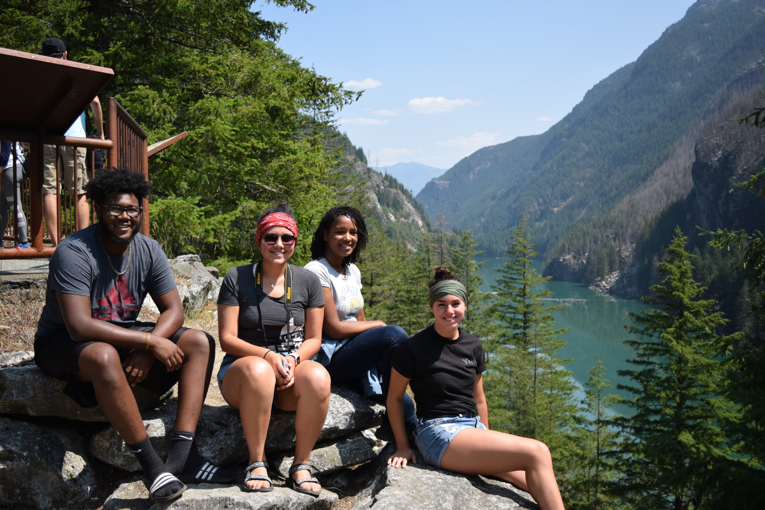 Stretching legs @ Gorge Dam