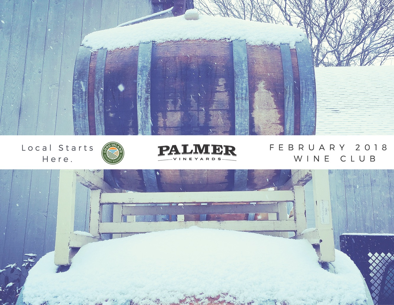 snow covered barrel