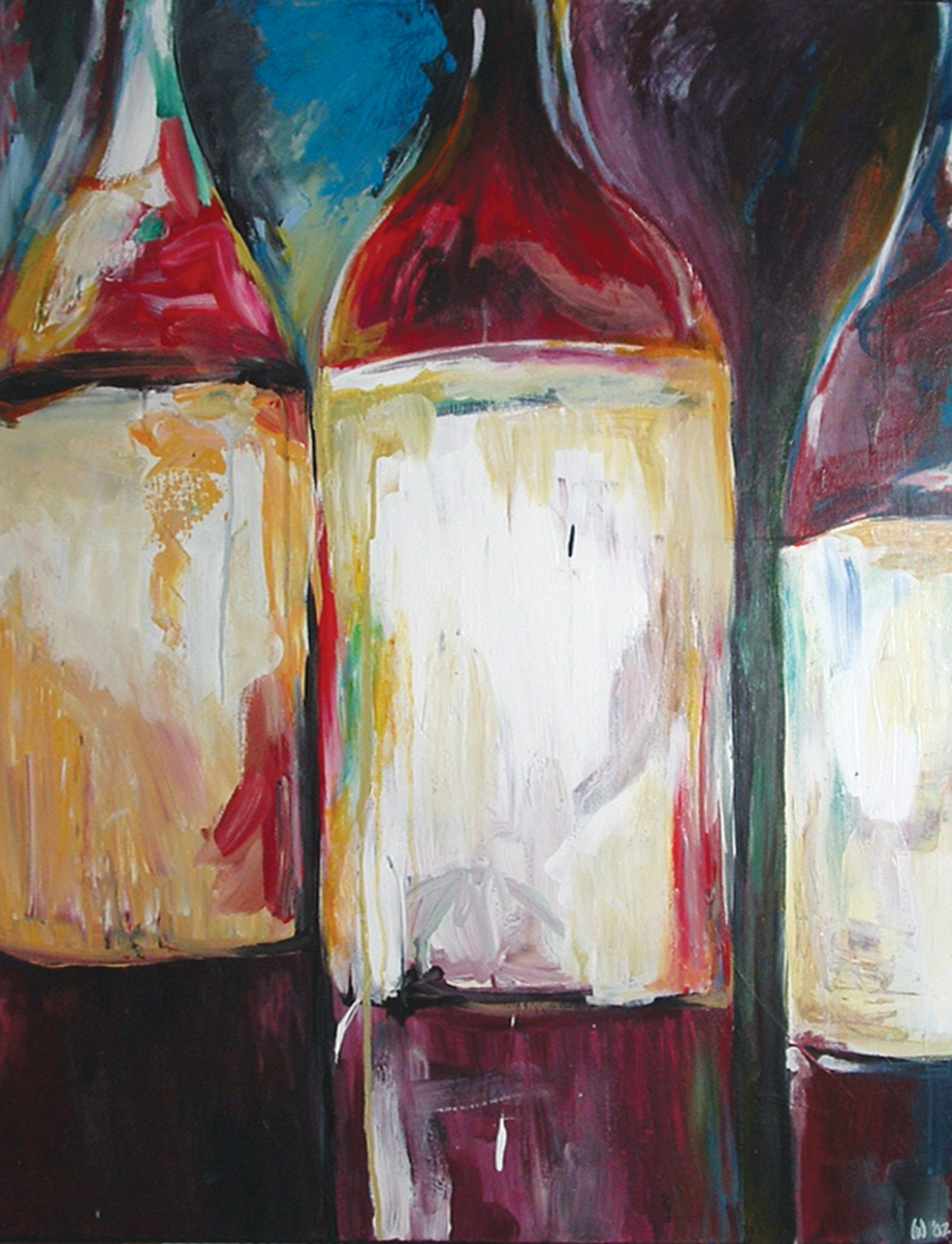 Three Bottles of Red, 2004
