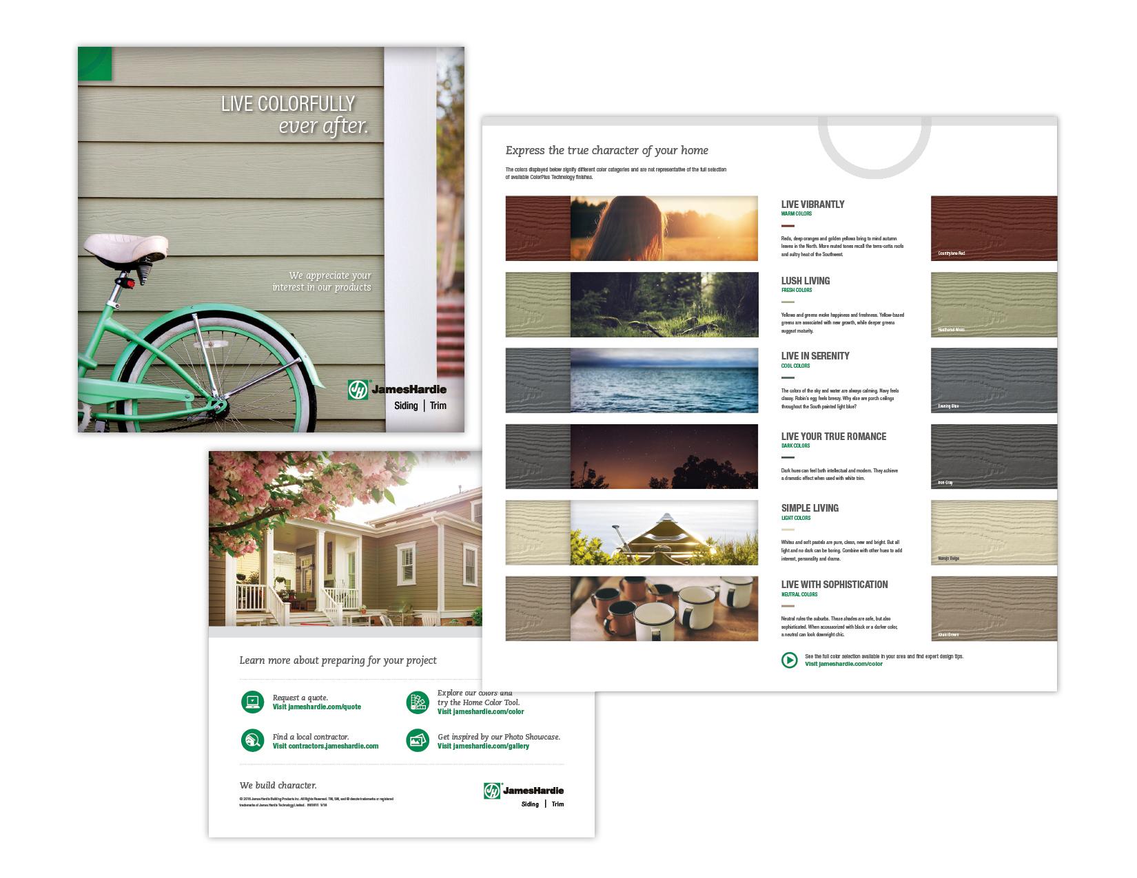 Quad fold brochure for James Hardie