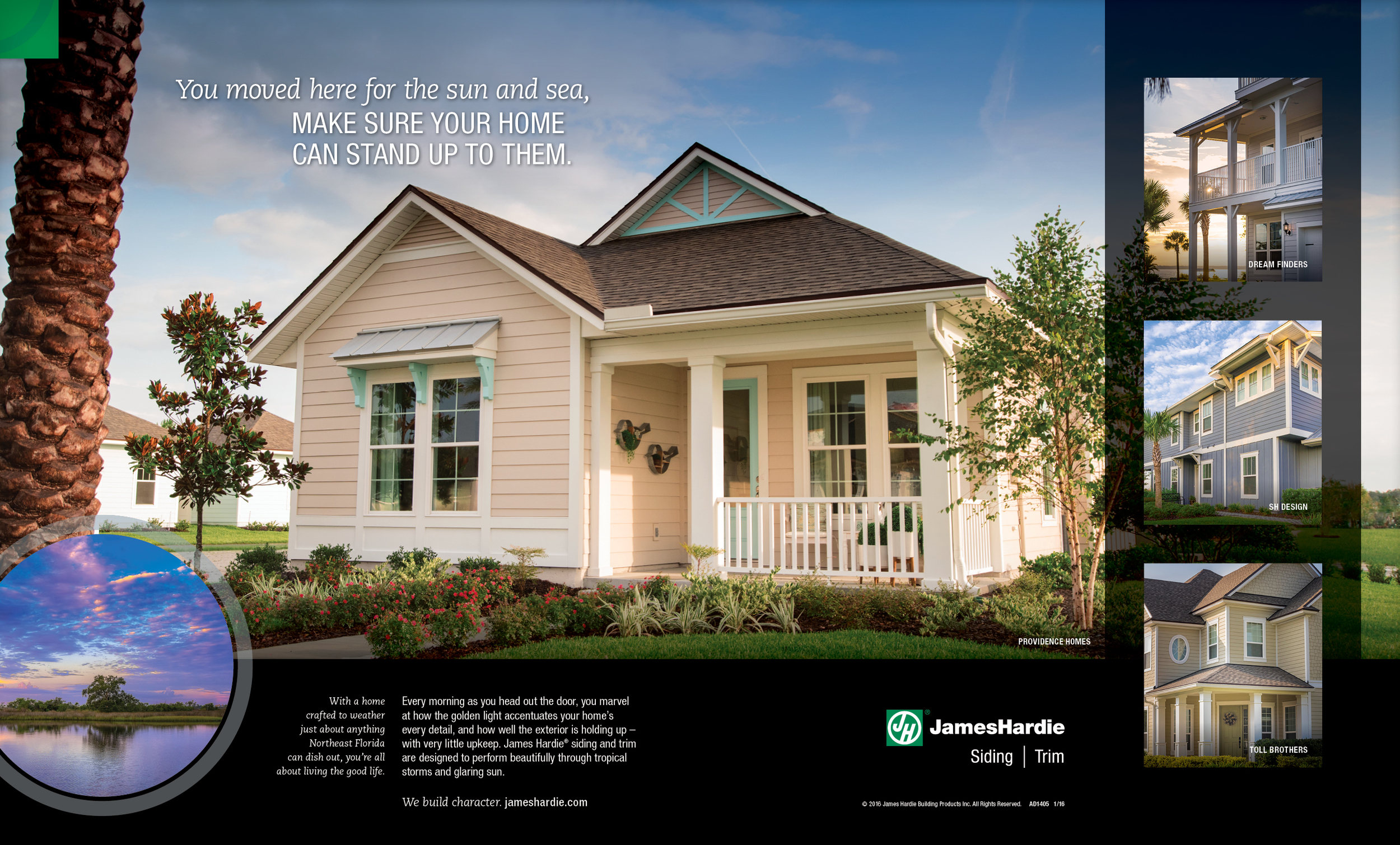 Spread ad for James Hardie