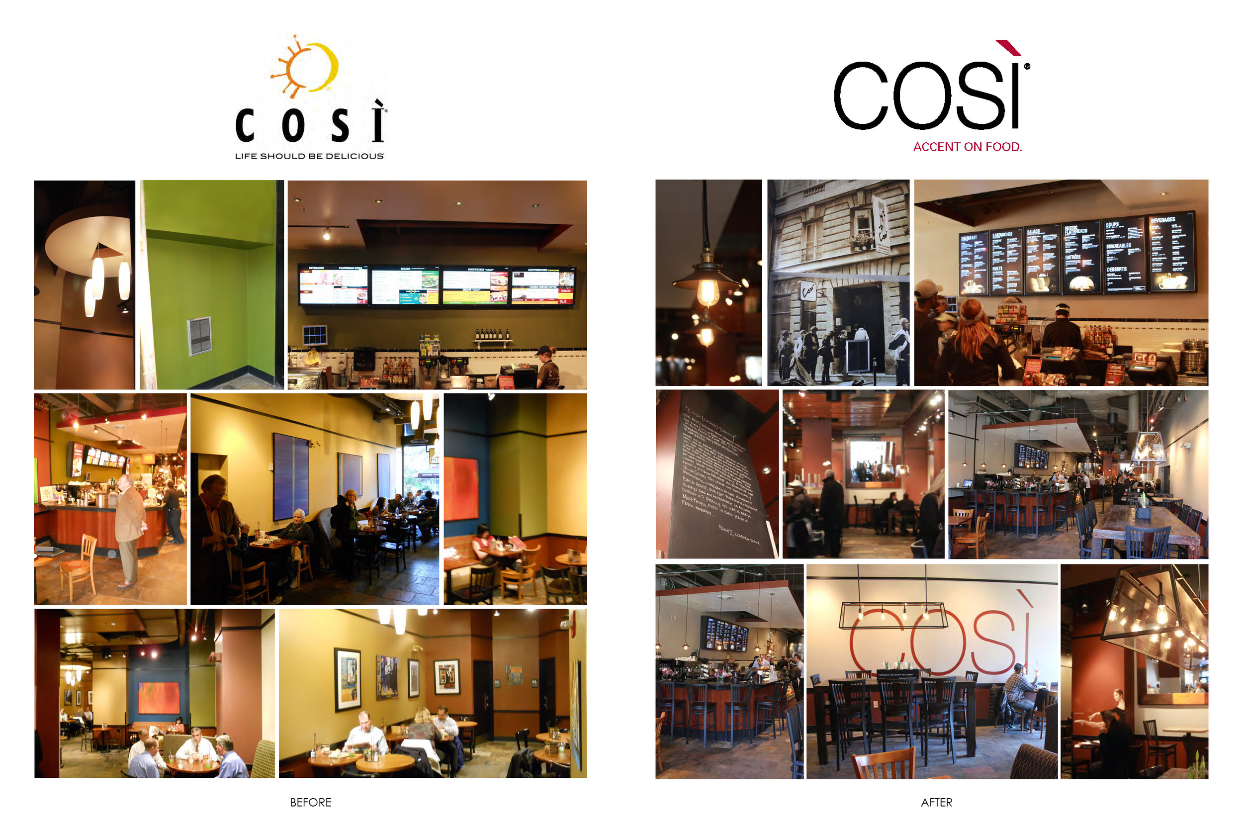 Cosi Brand and Store Redesign