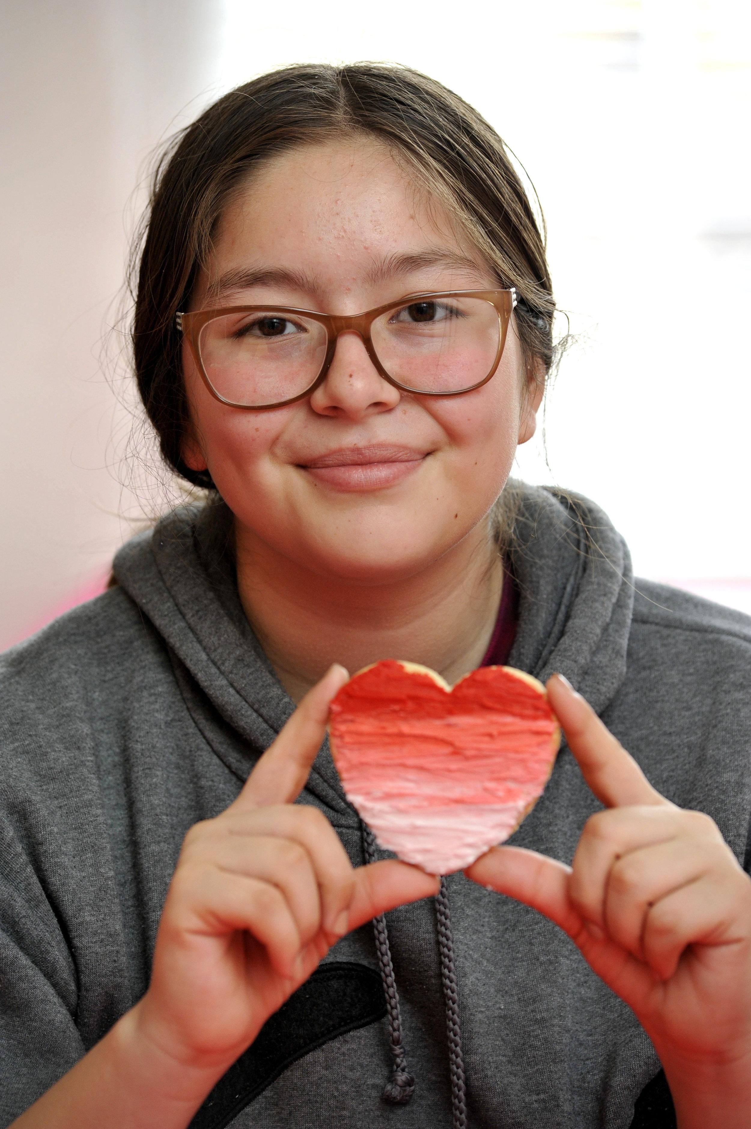 Girl heart cookie.JPG