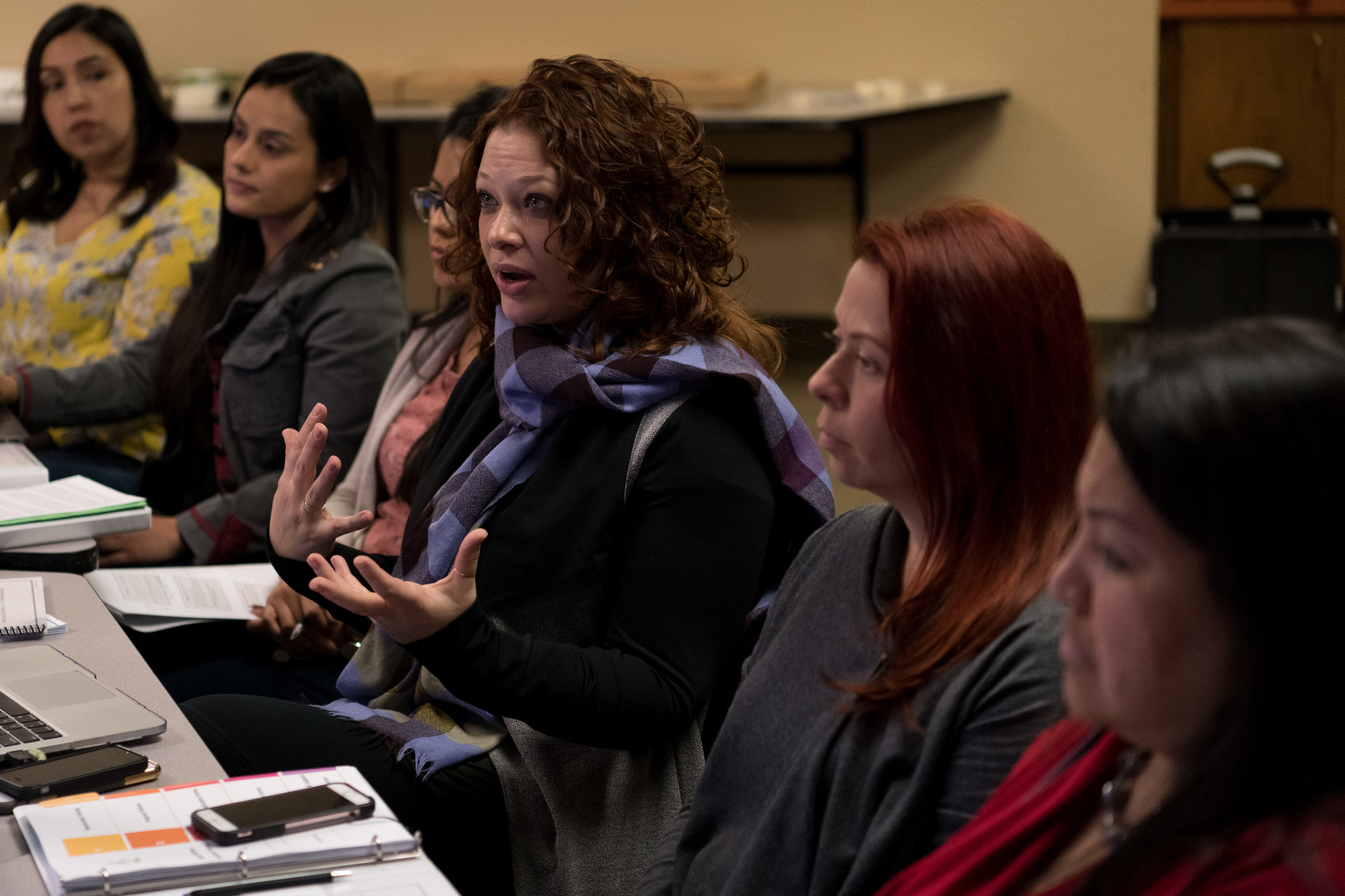 Briana Mandel leads a mentor training at Whittier Area Community Church, part of the Greenleaf Consortium.