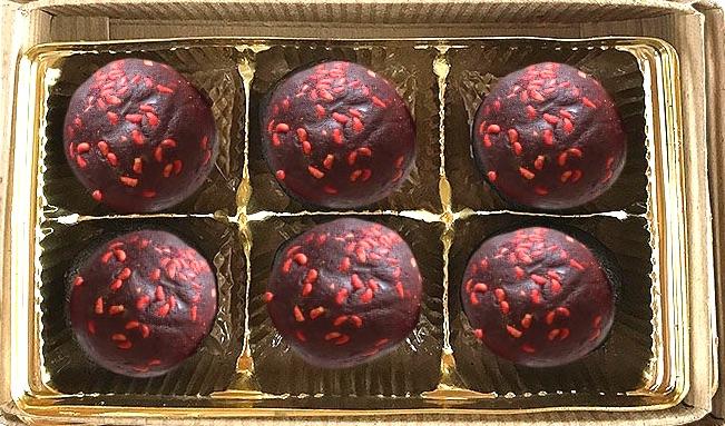 Raspberry Chocolate Truffles by b Naked Chocolates