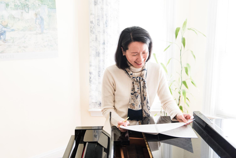 Arlington Autumn Small Business Portrait Photography | Musician and Composer Ruth Shyu | Lorna Stell | Photographer | Boston MA